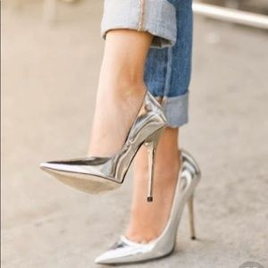 Perfect zara silver pumps